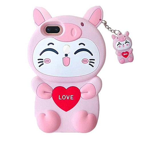 Phone Case For Huawei Nova 2 lite ,3D Love Cat Design Lucky Cat Kitty  Silicone Rubber Phone Case Cover For Huawei Nova 2 lite