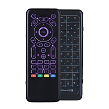 iPazzPort KP-62 2.4G Wireless 7 Color Backlit Mini Dual Keyboard Full Touchpad IR Learning Airmouse