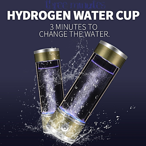 420ml SPE/PEM Hydrogen Rich Water Generator Bottle Water Ionizer Maker  Hydrogen Water Ionizador Pitcher Healthy Energy Cup QFENG