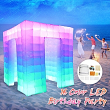 1-3 Door Inflatable LED Air Pump Photo Booth Tent Fun Party Exhibition 110V 2.5M