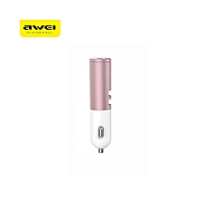 A870BL Bluetooth V4.1 Headset Dual USB Car Charger Earphones - Rose Gold