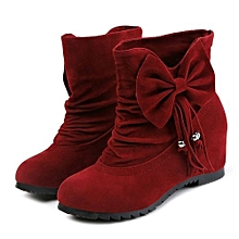 bluerdream-Women's Boots Winter Boots Warm Ankle Boots Warm Winter Shoes- Wine 35