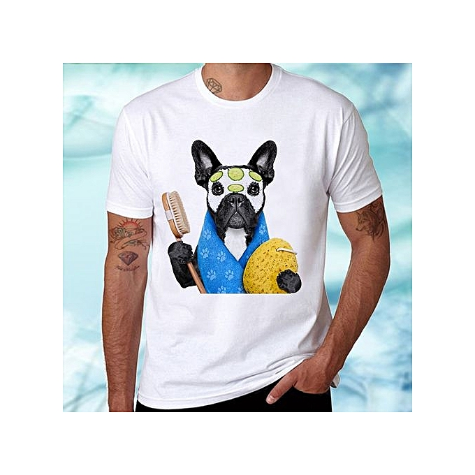 6cda83d34882 ... Size S-3XL · Novelty Dog Fashion Men Short Sleeve Summer Cotton Cool  Printed T-Shirts High Quality Slim