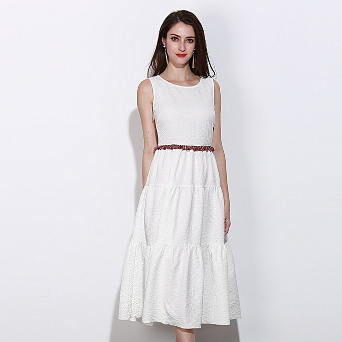 Generic Women Summer Wedding Guest Dress White Dress At Best Price