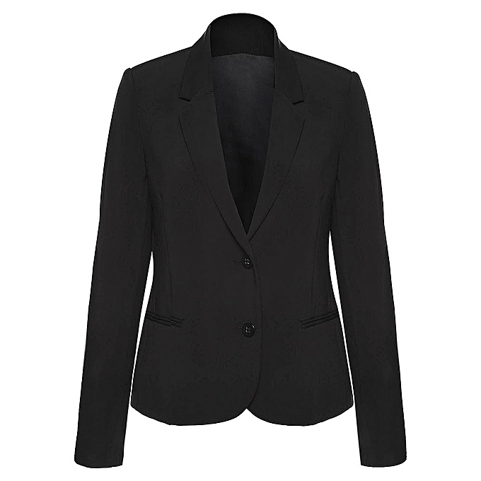 Buy Kenancy Women Two Button Perfect Solid Color Blazer