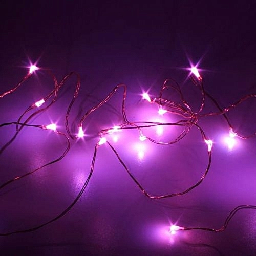 5m string fairy light 50 led battery operated xmas lights party wedding lamp pink