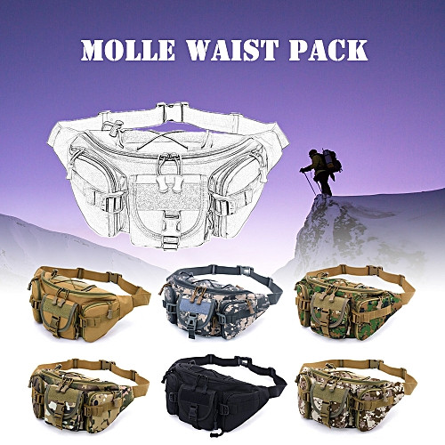 701abb108af4 Free Knight Outdoor Molle Waist Pack Fanny Packs Hip Belt Bag Pouch for  Hiking Climbing Bumbag