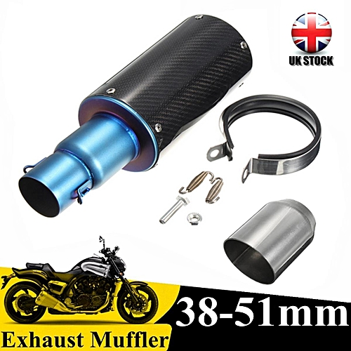 Universal 38-51mm Dirt Bike Scooter Motorcycle Exhaust Modified Scooter  Exhaust Muffler Pipe Scrub Carbon Fiber