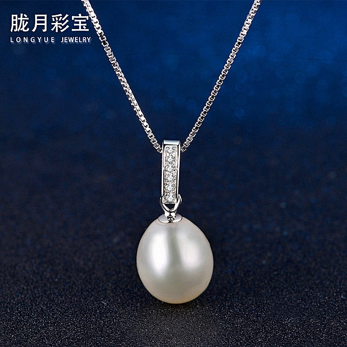 e0e5918ddf523d Fashion Freshwater Pearl Platinum (single pendant without chain)>925  Silver-925 pure silver light luxury jewelry classic Water Drop Pendant  Necklace Jewelry ...