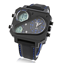 ALIKE AK16119 Men's Rubber Strap Digital Watch Quartz Analog Watch Wristwatch