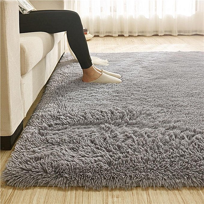 Generic 110x160 Fluffy Rugs Anti Skid Shaggy Area Rug Room