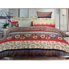 Duvet with 2 Pillow cases and one BedsheetMulticolour