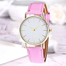 Watch  Fashion Simple Leisure Women Analog Leather Quartz  Watches-Pink