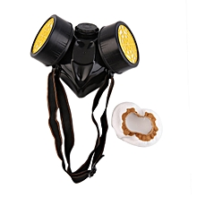 Emergency Survival Safety Respiratory Gas Mask With 2 Dual Protection Filter