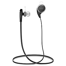QCY QY8 V4.1 Wireless Bluetooth Headphones Best In-Ear Noise Cancelling Headphones with Microphone for Running, Sports (Black) SUNKKJ