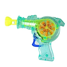 Shining Bubble Gun Soap Bubble Blower Outdoor Kids Child Toys Gift Color Random