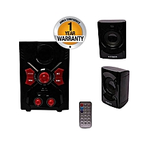 V036 2.1CH Multimedia Speaker System - Black Bluetooth Enabled.
