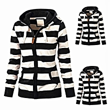 Tectores Women Ladies Zipper Tops Hoodie Hooded Sweatshirt Coat Jacket Casual Slim Jumper