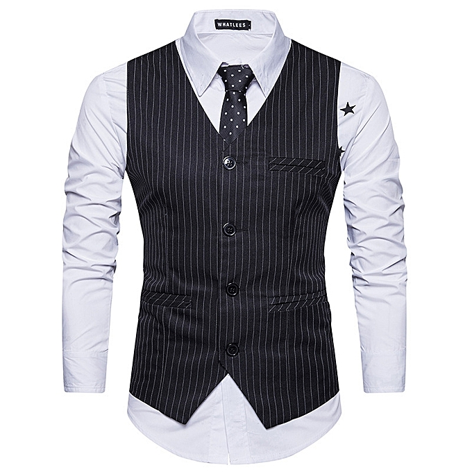 7f77416791 Men Suit Vest Classic V Collar Dress Slim Fit Wedding Waistcoat Mens Formal  Slim Dress Sleeveless