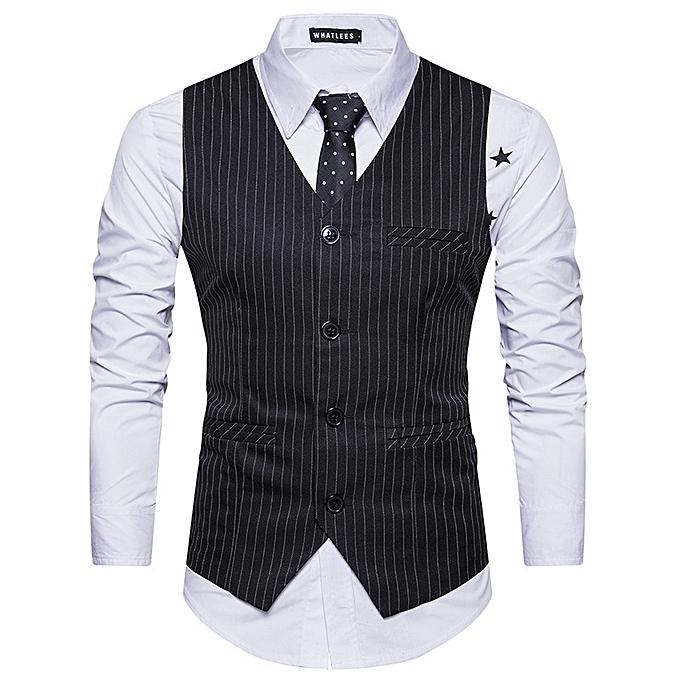 4243f71bdd0 Men Suit Vest Classic V Collar Dress Slim Fit Wedding Waistcoat Mens Formal Slim  Dress Sleeveless