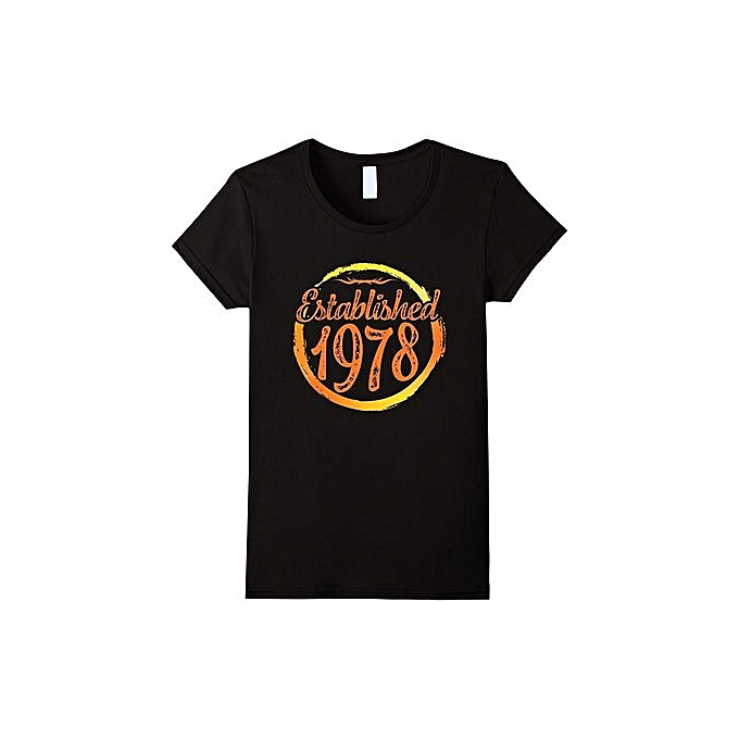087c442f5bc Fashion T-shirt Established Legends Born In 1978 Birthday Gift 39 Years Old  Men Tee