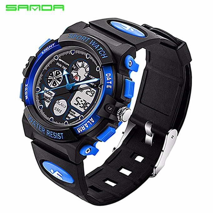 22a8f5ee2 SANDA Children Watch Kids Sports Watches LED waterproof Dual Display Watch Boy  Girl Student Multifunctional Digital
