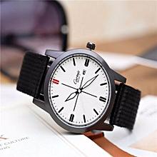 Seiko 5 Sports  Automatic Watch Casual Atmosphere Male Canvas Watch Quartz(Black&White)