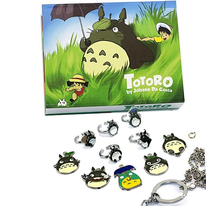 Totoro Hayao Miyazaki color ten styles of shape necklaces mourn to fall to ring  suit 1f6b0d27017ce
