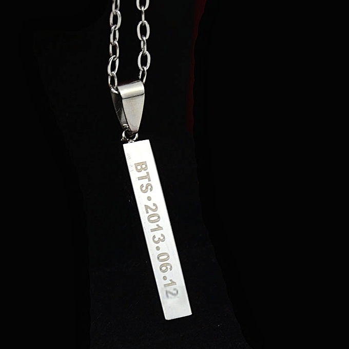 Peripheral collectively personal titanium steel necklace of the  bullet-proof youth's regiment EXO TFBOYS together style the Shu sweater  chain