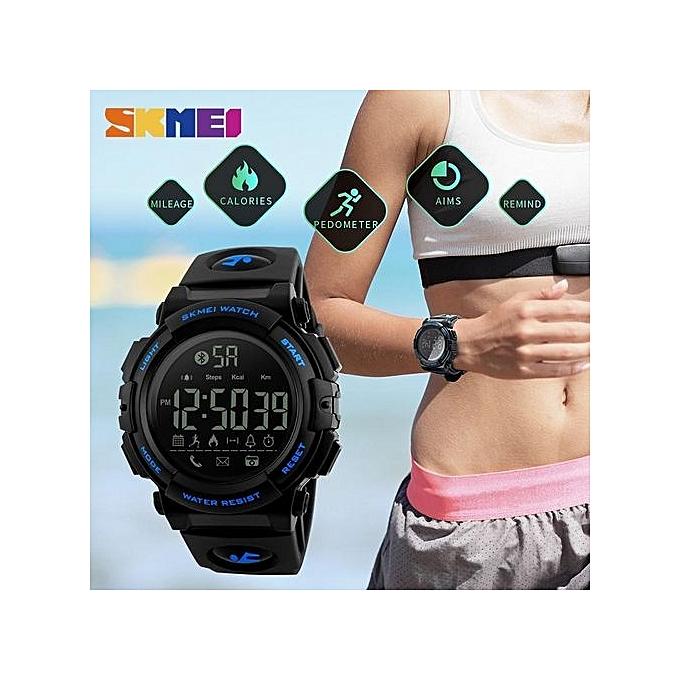 4c7465cbf83 ... SKMEI Men Sports Smart Watches 50M Waterproof Pedometer Calories  Bluetooth Remote Camera Watches Relogio Masculino 1303 ...