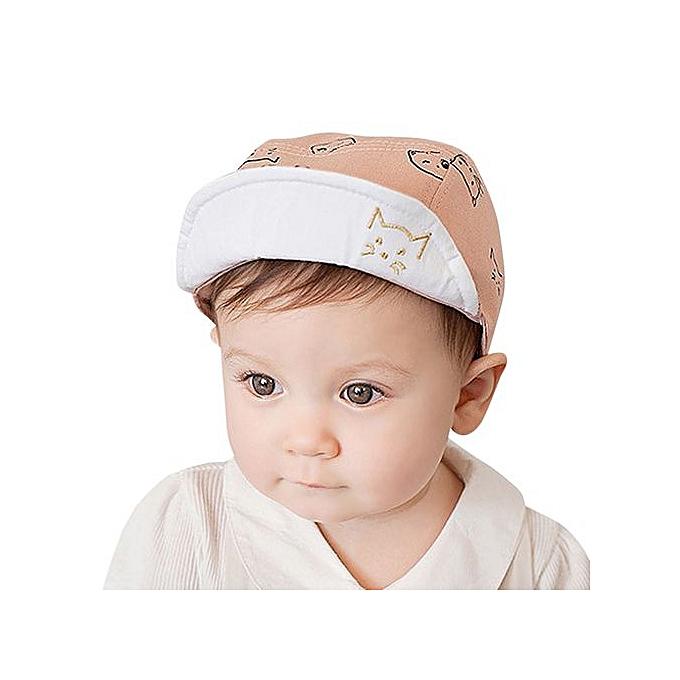 Hiaojbk Store Cute Infant Baby Kids Comfortable Bongrace Hat Peak Cap Cat  Kitten Cartoon -Pink