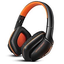 Fashion B3506 Wired Wireless Bluetooth 4.1 Professional Gaming Headphones(BLACK AND ORANGE)