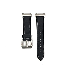 New Luxury Leather Band Bracelet Watch Band For Fitbit Ionic BK-Black