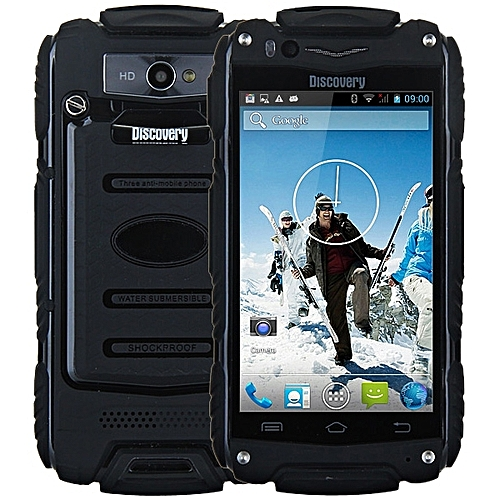 4.0 inch Discovery V8 Android 4.4 3G Smartphone MTK6572 1.0GHz Dual Core WiFi GPS Waterproof Dustproof Shockproof 4GB ROM BLACK