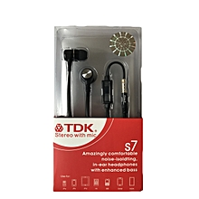 TDK S7 Stereo hands free earphones with mic