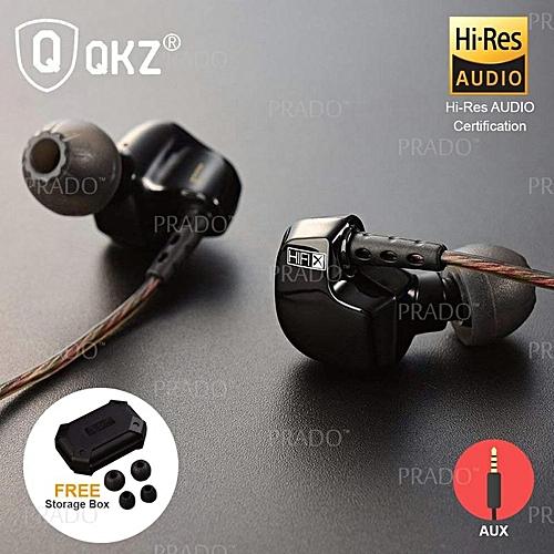 QKZ DM200 In-Ear Earbuds HIFI Sport Gaming Hi-Res Stereo Bass Sound Earphones 3.5MM PRI-P