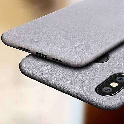 buy online d14d4 66ba3 For Xiaomi Redmi Note 5 AI Shockproof Thin Soft TPU Sandstone Matte Back  Case Cover (Grey)