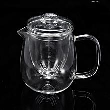 Lead-Free Glass Teapot Infuser Filter Herbal Tea Pot Leaf Strainer Kettle 500ml