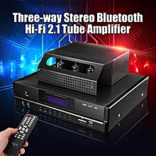 220V 350W Bluetooth 4.0 HI-FI 2.1 Tube Amplifier Stereo Power AMP USB Mic Remote