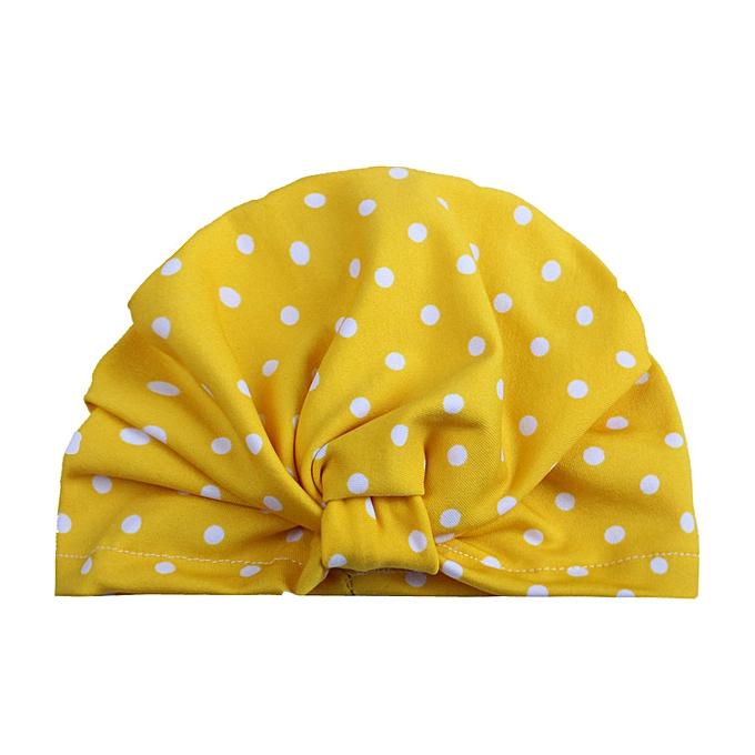 7cd53e31dcc Cute Newborn Toddler Kids Baby Boy Girl Turban Cotton Beanie Hat Winter  Warm Cap-Yellow