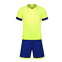 Customized World Cup Football Soccer Team Training Children And Men Sports Jersey-Fluo Green