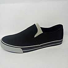 Black Casual Slip-on Men's Rubber Shoes