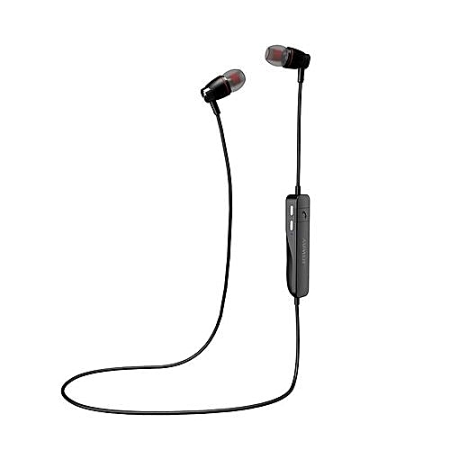 Wireless Noise Cancelling Voice Control Sports Stereo Bluetooth Headset  Wireless Earbuds V4.0 Earphones With Microphone (Black)