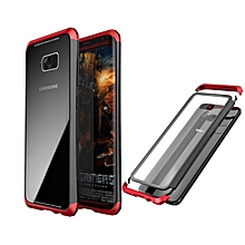 Luphie Metal Bumper+9H Tempered Glass Back Cover Case For Samsung Galaxy S8 Plus