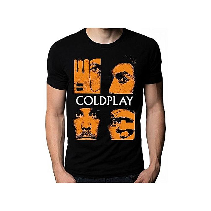 b06d2bb1 Custom Funny Mens T Shirt Coldplay Chris Martin Face Music Cold Play Logo T- Shirt