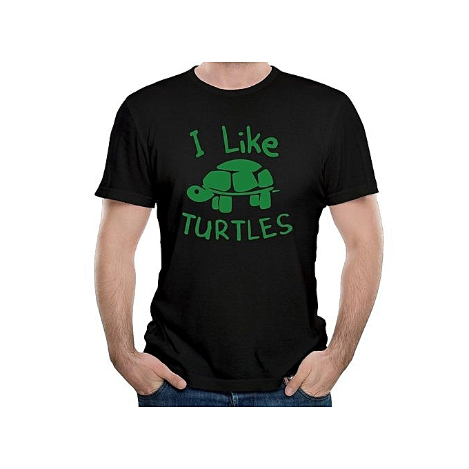 5fa536464 Fashion Mens Cool I Like Turtles Animal Funny T-shirts Men's Cotton ...