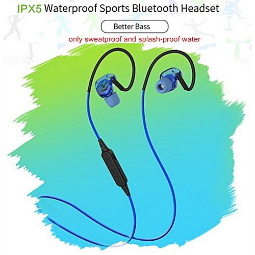 LEBAIQI Plextone Headphones Sport Running Stereo Earphone Wireless Bluetooth Waterproof Headset With Mic BX240 - White