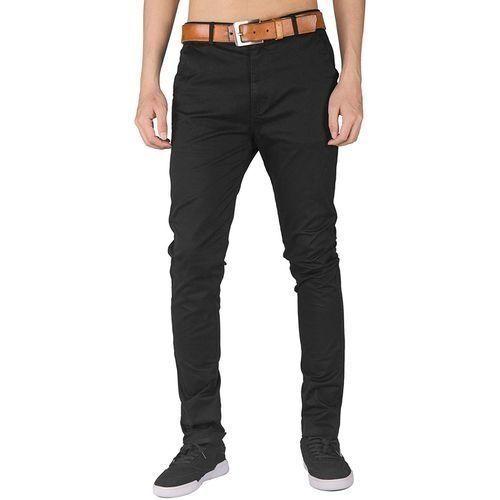 Soft Khaki Men's Trouser Stretch Slim Fit Casual- Black