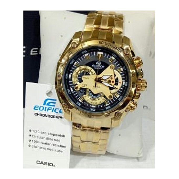 CASIO Gold Edifice EF-550D With Metallic Strap   Best Price  736b85f36d