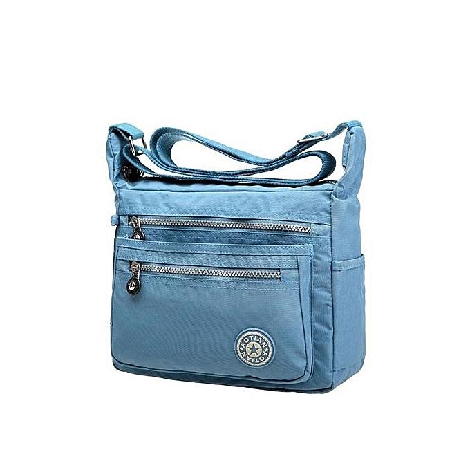 945e96b9410 bluerdream-Leisure Womens Girls Waterproof Nylon Messenger Bags Shoulder Bags  LB-Light Blue